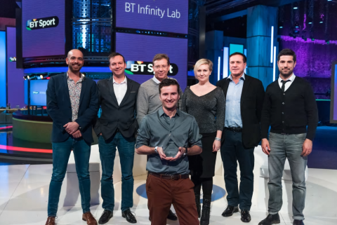 Sceenic won the BT Infinity Lab competition and is being trialled by BT Sport